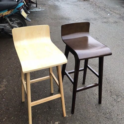 ghế bar mặt gỗ cong - khonoithatsaigon