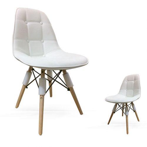 Ghế cúc chân gỗ - khonoithatsaigon