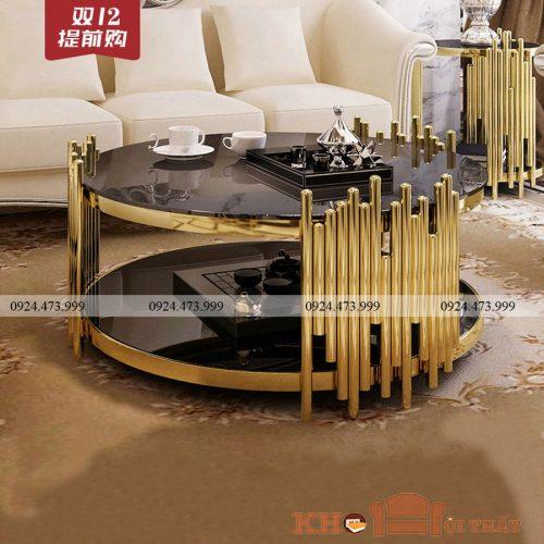 bàn sofa inox tròn